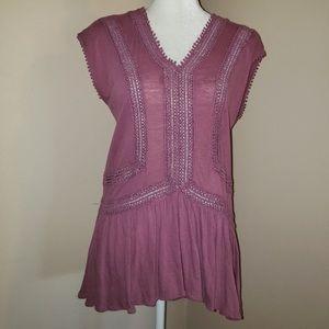 LOFT rose tunic